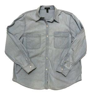 RALPH LAUREN Light Wash Denim Shirt Sz XL
